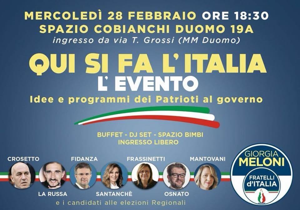 Convegno Qui si fa l'Italia