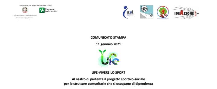 Progetto LIFE-VIVERE LO SPORT 2021 IdeazioneCIAO